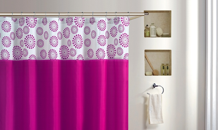 Halo Flocked Shower Curtain