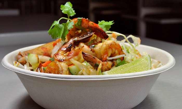 Saigon Bowl - South Central Omaha: Two Groupons, Each Good for $10 Worth of Vietnamese Rice and Noodle Bowls at Saigon Bowl (40% Off)