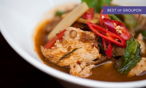 Koh Thai Tapas: Two-Course Lunch with Sides for Two or Four at Koh Thai Tapas (Up to 49% Off)