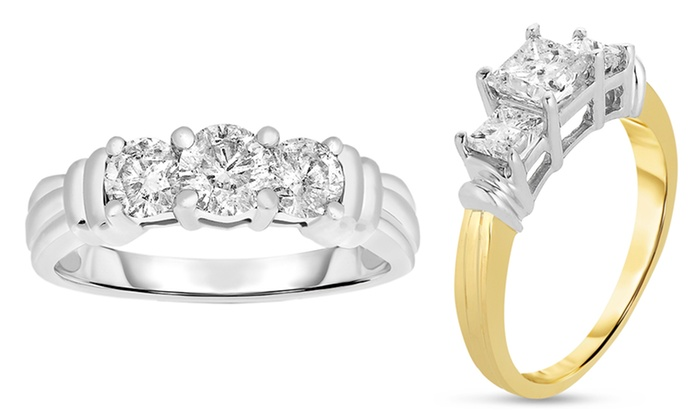 1.00 CTTW 3-Stone Certified Diamond Ring: 1.00 CTTW 3-Stone Certified Diamond Ring in 14-Karat Gold. Multiple Styles Available.