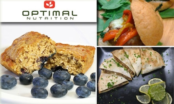 Optimal Nutrition - San Diego: $45 for $90 Toward One Week Starter Plan of Custom-Made Organic Meals and Energizing 91 Bars at Optimal Nutrition