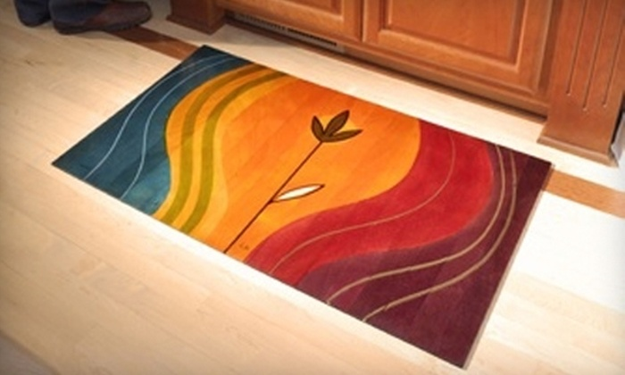 Kakadu Art & Design in Wood - Central Business District: $99 for a Hand-Painted 2'x3' Wooden Floor Mat at Kakadu Art & Design in Wood ($179 Value)