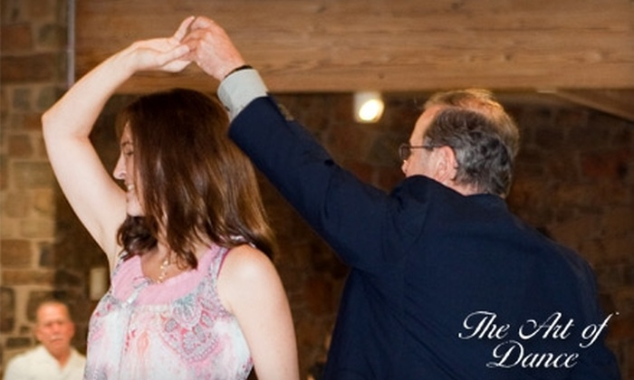 The Art of Dance - Downtown Mckinney: Couples' and Individual Dance Classes at The Art of Dance in McKinney. Choose from Three Options.