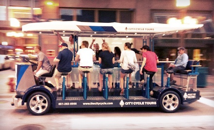 1 Seat on a 2-Hour Pedal-Bus Pub Crawl Mon.-Thu. (a $30 value) - City Cycle Tours in St. Petersburg
