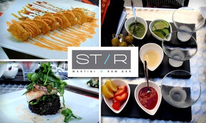 STIR Martini & Raw Bar - Northwest Bellevue: $10 for $25 Worth of Custom Drinks and Meals at Stir Martini and Raw Bar