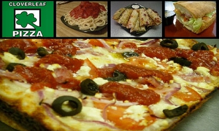 Cloverleaf Pizza - Multiple Locations: $6 for $15 Worth of Pizza, Sandwiches, Wings, and More at Cloverleaf Pizza