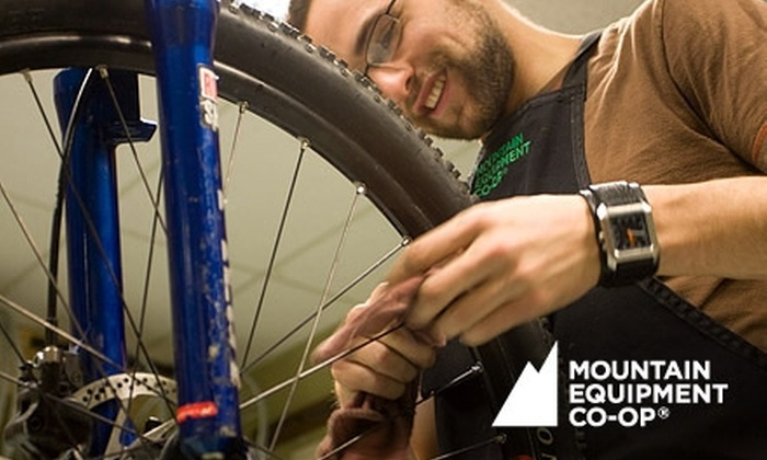 Mountain Equipment Co-Op - Downtown Toronto: Basic or Advanced Bike Tune-Up at Mountain Equipment Co-op. Choose Between Two Options.