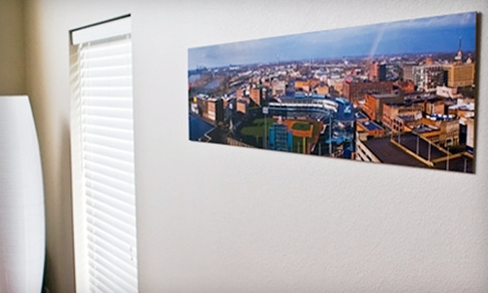 "Press Prints: One 8""x10"" Photographic Print or One 8""x24"" Panoramic Wood Print from Press Prints"