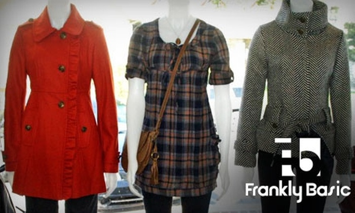 Frankly Basic - Countryside: $25 for $50 Worth of Women's Clothing, Accessories, and More at Frankly Basic