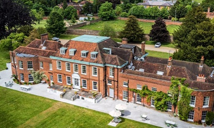 Buckinghamshire: Double Room or Junior Suite for Two with Breakfast, Prosecco and Dinner at 4* Stoke Place Hotel