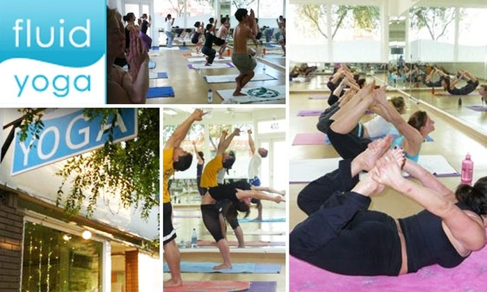 Fluid Yoga - San Francisco: 10 Consecutive Days of Bikram Yoga Classes for Two People