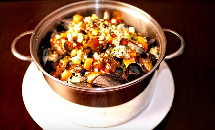 Dinner for 2: 2 Pots of Mussels and Choice of 2 Side Dishes or 2 Glasses of Wine or Beer (up to a $64 total value) - The Mussel Pot in Manhattan