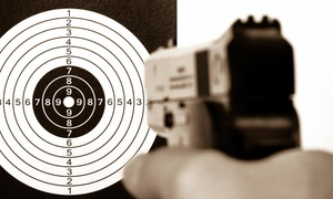 The Gun Room: Range Time for Two with Handgun Rental and Targets at The Gun Room (Up to 43% Off). Two Options Available.
