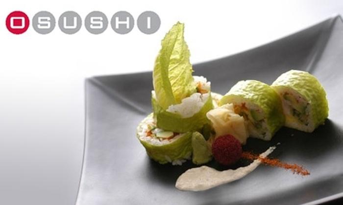 Osushi - Back Bay: $15 for $30 Worth of Sushi and Sake at Osushi