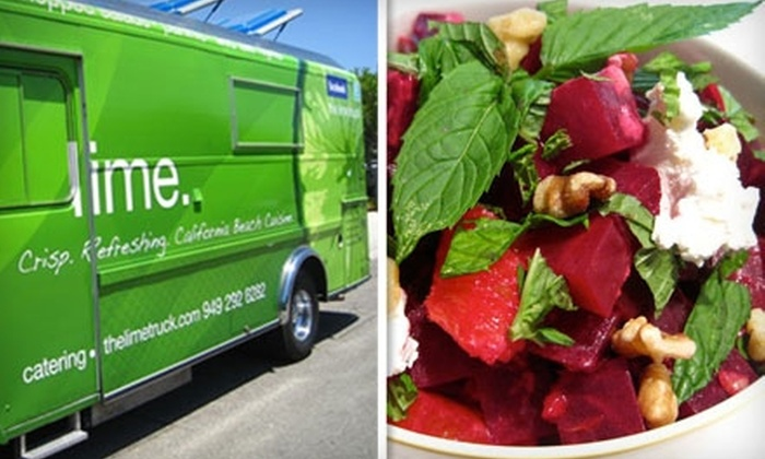The Lime Truck - Orange County: $5 For $10 Worth of Healthy, Gourmet Food Truck Fare at The Lime Truck