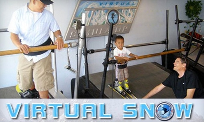Virtual Snow - Multiple Locations: $48 for a One-Hour Snowboarding or Skiing Lesson at Virtual Snow (Up to $160 Value)