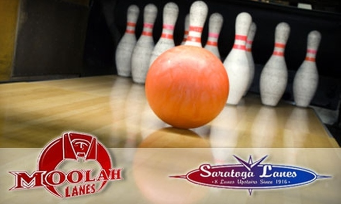 Saratoga Lanes and Moolah Lanes - Multiple Locations: $10 for $20 Worth of Bowling, Pool, Food, and Drinks at Either Moolah or Saratoga Lanes