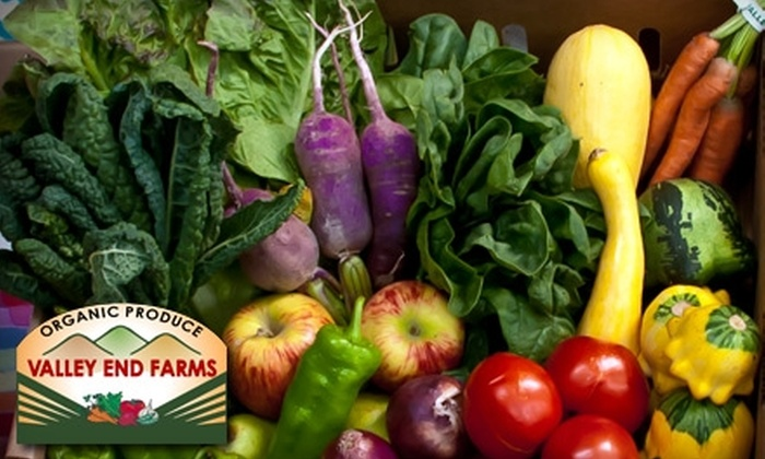 Valley End Farm - Petaluma: Four Weeks of Organic Produce from Valley End Farm. Four Options Available.