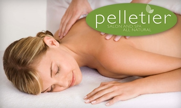 Pelletier Salon and Spa - Charleston: $45 for Your Choice of Four Massage Options ($90 Value) or $115 for a Keratin Hair Treatment ($250 Value) at Pelletier Salon and Spa in Staten Island
