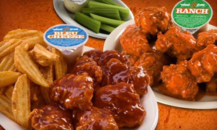 Wing Zone - City Center: 30 Boneless Wings and 30 Pieces of Fried Shrimp or 50 Boneless Wings at Wing Zone in Coral Springs (Up to 51% Off)