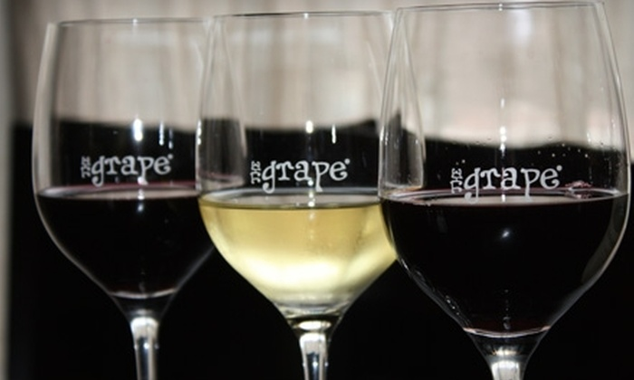 The Grape Wine Bar & Bistro - Vinings: $15 for a Wine Tasting Flight for Two at The Grape Wine Bar & Bistro at Vinings Jubilee ($30 Value)