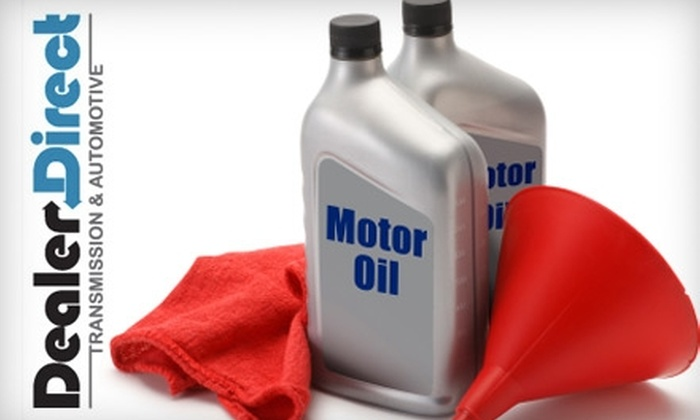 Dealer Direct Transmission & Automotive - Multiple Locations: $39 for an Oil and Filter Change, Tire Rotation, Complete Diagnostic Check, and Exterior Wash at Dealer Direct Transmission & Automotive ($148.50 Value)