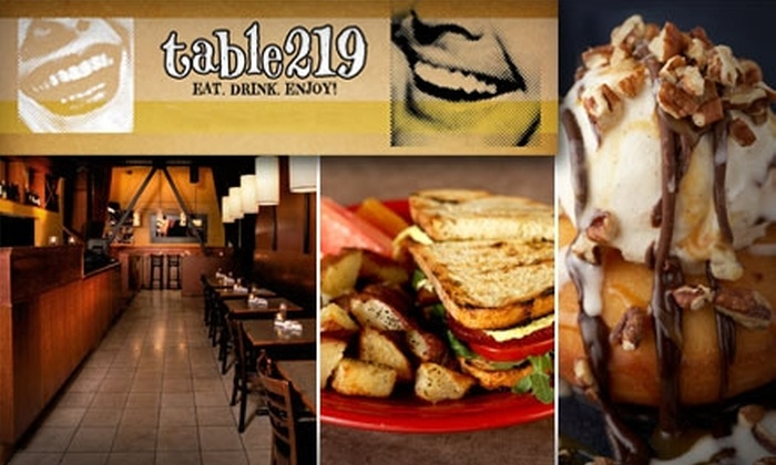 Table 219 - Broadway: $10 for $25 Worth of Innovative Dinner Fare at Table 219 (or $10 for $20 Worth of Brunch)