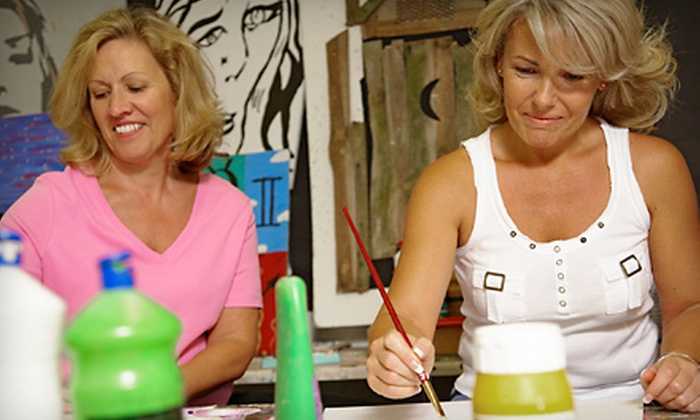 Muzart - Parkside: Date-Night Parents'-Night-Out Service or Wine-and-Paint Party at Muzart in Hollywood