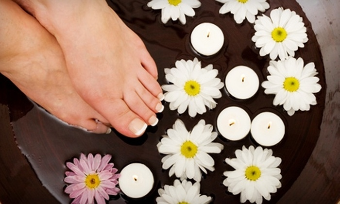 Renaissance Salon & Spa - Northeast Oklahoma City: $42 for Nail Buff and Polish and Seasonal Pedicure at Renaissance Salon & Spa ($84 Value)