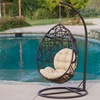 Outdoor Brown-Wicker Swing Chairs