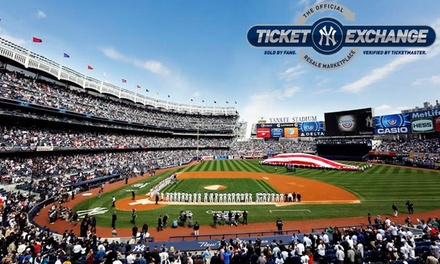 Discounted Tickets for New York Yankees Home Games Via Yankees Ticket Exchange, Starting at $10