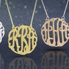 Personalized Sterling Silver Monogram Necklace from Monogram Online