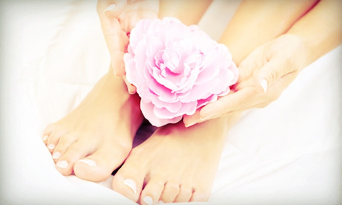 Le Spot European Day Spa - The Cove: Spa Pedicure with a Regular or Shellac Manicure at Le Spot European Day Spa (Up to 53% Off)