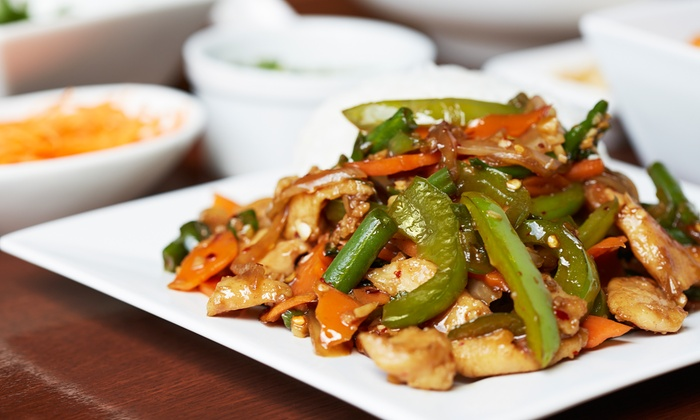 Bamboo Thai Restaurant - Commonwealth: $21 for $40 Worth of Thai Dinner Food at Bamboo Thai Restaurant