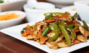 Nittha Siam Kitchen: Thai Food and Sushi at Nittha Siam Kitchen (Up to 45% Off). Two Options Available.