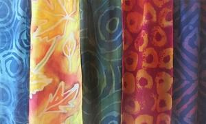 Hand-Dyed Batik Scarf Class: Hand-Dye Your Own Batik Scarf at a Fiber Artist's Studio
