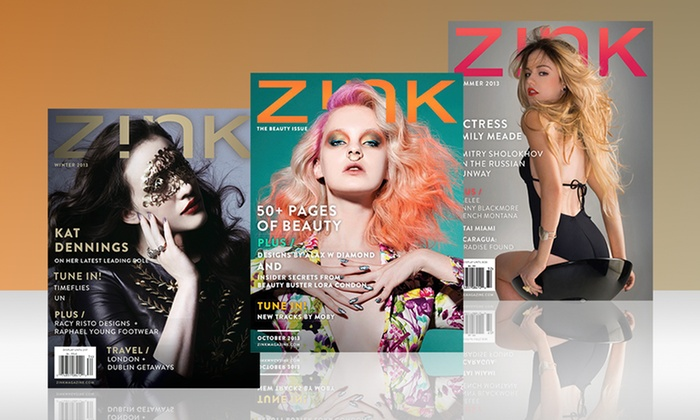 1-Year, 10-Issue Subscription to Zink Magazine: 1-Year, 10-Issue Subscription to Zink Magazine