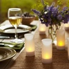 6-Piece Flameless Frosted-Glass Candle Set with Tealights