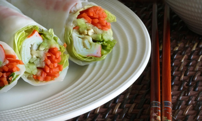 Pi-Tom's Thai Cuisine - Multiple Locations: Five-Course Thai Meal for Two or Thai Fare at Pi-Tom's Thai Cuisine
