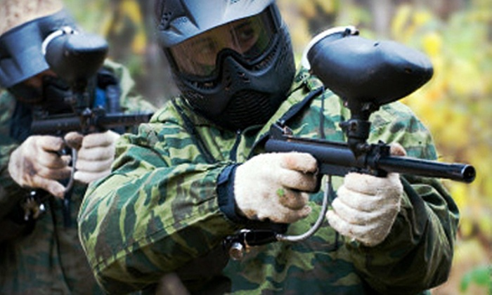Frog Holler Paintball - Derby: All-Day Paintball Outing for One, Two, Three, or Four at Frog Holler Paintball in Derby (Up to 54% Off)