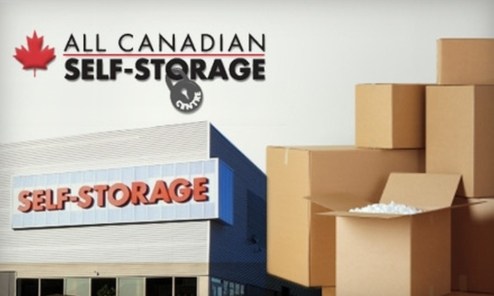 All Canadian Self-Storage - Multiple Locations: $30 for $100 Worth of Self-Storage Rentals and Supplies from All Canadian Self-Storage