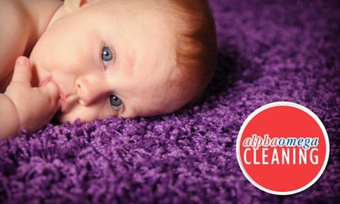 Alpha & Omega Cleaning - Shreveport / Bossier: $45 for Two-Room Carpet Cleaning from Alpha & Omega Cleaning ($90 Value)