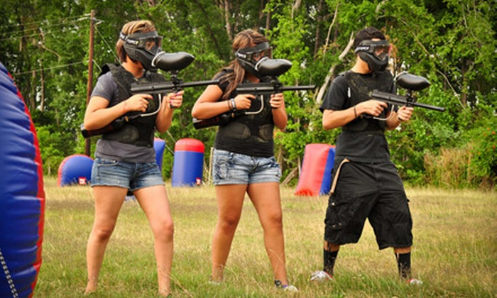 Got'cha Paintball - Houston: All-Day Paintball Package for Two, Four, or Eight with Paintballs and Equipment Rental at Got'cha Paintball (Up to 53% Off)
