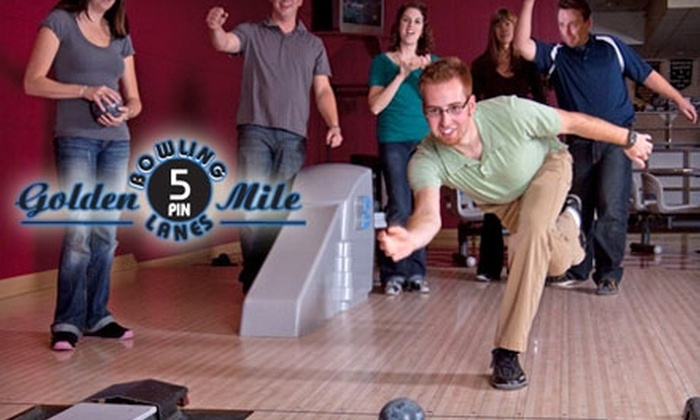 Golden Mile Bowling Centre - Regina: $20 for One Hour of Bowling and Shoe Rentals for Up to Six People at Golden Mile Bowling Centre ($41 Value)