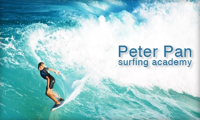 Peter Pan Surfing Academy - Narragansett: $32 for a Surfing Lesson Plus Board and Wetsuit Rental at Peter Pan Surfing Academy