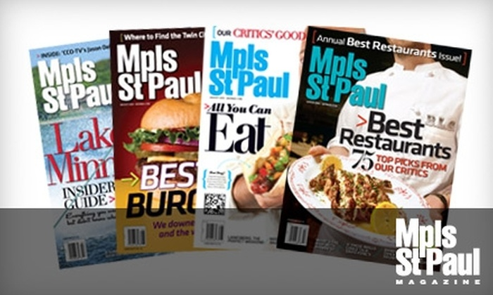 """Mpls.St.Paul Magazine: $20 for Two One-Year Gift Subscriptions to """"Mpls.St.Paul Magazine"""" ($39.95 Value)"""