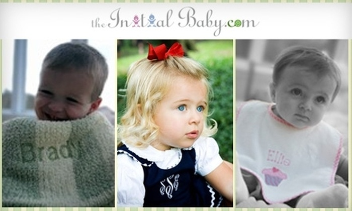 The Initial Baby: $17 for $35 Worth of Personalized Apparel, Gifts, and More from The Initial Baby