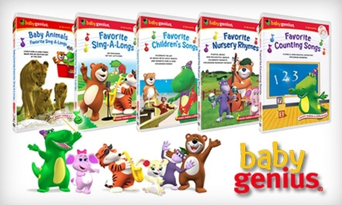 Baby Genius: $25 for Five Baby Genius DVDs Plus Five Bonus CDs