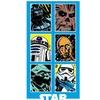 Classic Star Wars Collage Beach Towel