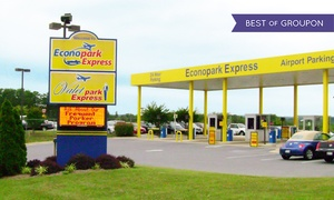 Econopark Express: Three, Five, or Seven Consecutive Days of Airport Parking with Free Shuttle Service (Up to 39% Off)
